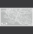 genoa italy city map in retro style vector image vector image