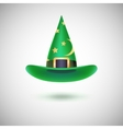 Green witch hat for Halloween vector image vector image