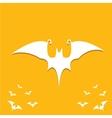 halloween bat icon vector image vector image