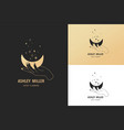 hand drawn logo and icon hand holding moon vector image vector image