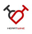 heart wine logo vector image