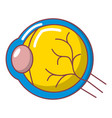 human eye icon cartoon style vector image vector image