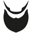 icon poster beard beaver bearded man father dad vector image vector image