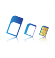 Mobile phone sim card set vector image vector image