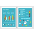 Modern business infographic brochure template 2 vector image