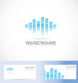 Music sound volume logo vector image vector image