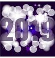 new year 2019 beautiful bokeh greeting card vector image vector image