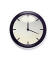 nice clock vector image vector image
