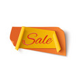 orange with yellow sale banner vector image vector image