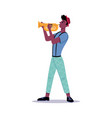 person playing on trumpet african american man vector image