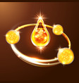 premium collagen droplet golden essence oil or vector image vector image