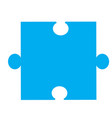 puzzle piece icon on white background puzzle vector image vector image