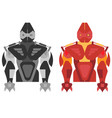 robot in two forms in the style of flat vector image vector image