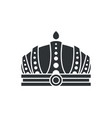 royal crown in futuristic style complicated design vector image vector image