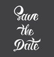save date card template with hand drawn vector image vector image
