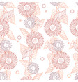 seamless floral pattern autumn background of vector image