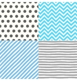 Seamless geometric patterns set vector image vector image