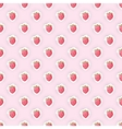 Seamless pattern background with raspberry fruit vector image vector image