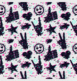 seamless pattern with human hands texture vector image vector image