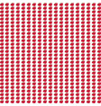 seamless pattern with small red apples on white vector image vector image