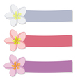 set colored banners with flowers vector image vector image