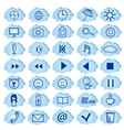 set of badges icons for a site vector image vector image