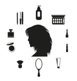 Set of make up icons vector image vector image