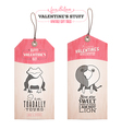 Set of vintage Valentines day gift tags vector image