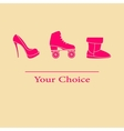 set your choice of footwear vector image