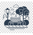 silhouette icon of a calm park vector image vector image