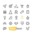 Start Up Motivation Brainstorming Icon Set vector image vector image
