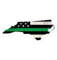 state north carolina military support american vector image vector image