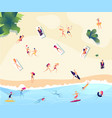 summer beach people persons swim dive in sea vector image vector image