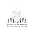 summer camp logo vector image vector image