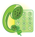 Telephone receiver vector image vector image