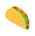 Tortilla wrap with vegetables icon vector image vector image