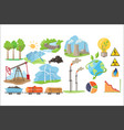 types of natural resources for producing eco vector image