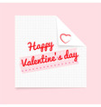 valentine note vector image vector image