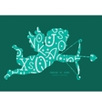 white on green alphabet letters shooting cupid vector image