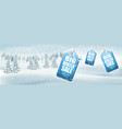 winter sale background with landscape vector image