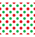 seamless red and green polka dot pattern - vector image