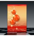 Christmas flyer vector image
