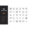 30 web line icons vector image