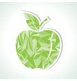Abstract green triangle apple vector image