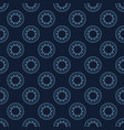 abstract indigo blue sun circles seamless vector image vector image