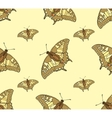abstract seamless background butterflies vector image