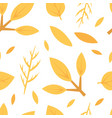 autumn leaves seamless pattern design element can vector image vector image