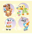 Baby Pets Background 2 vector image vector image