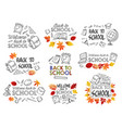 back to school education stationery icons vector image vector image
