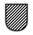 badge in monochrome and striped vector image vector image